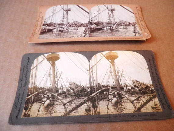 Sinking of The Battleship Maine Steroview Cards