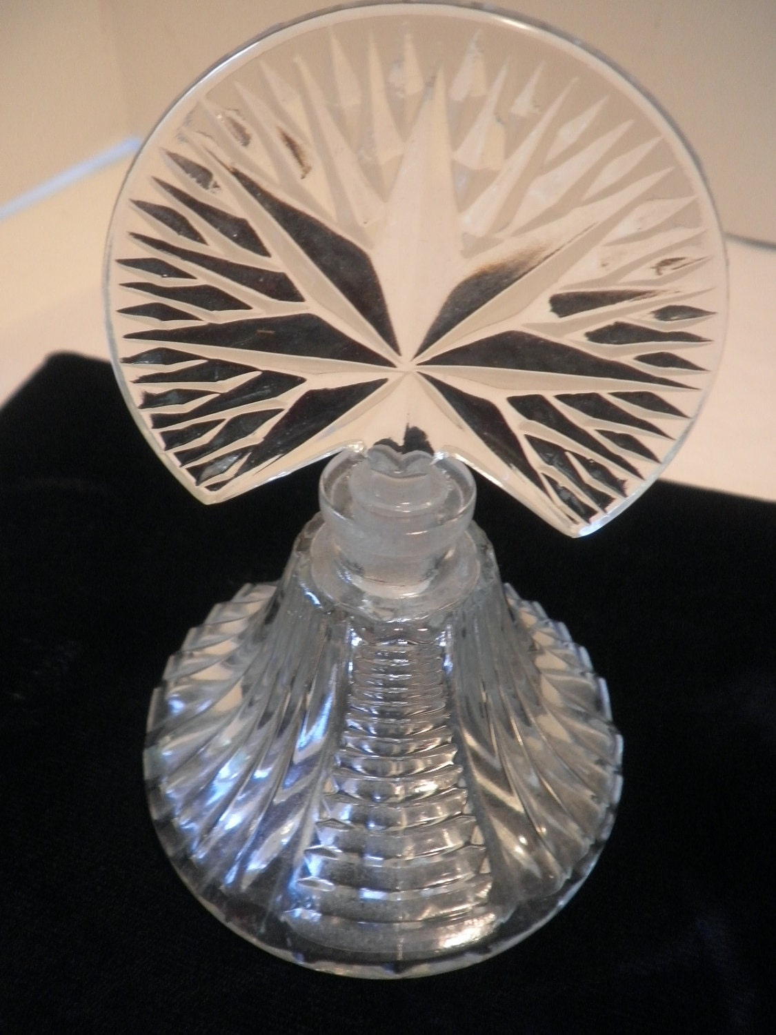 Starburst cut glass perfume bottle - Starburst glassware ...