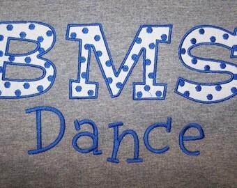 Custom School Mascot Dance Team Shirt Dance Drill Team Shirt