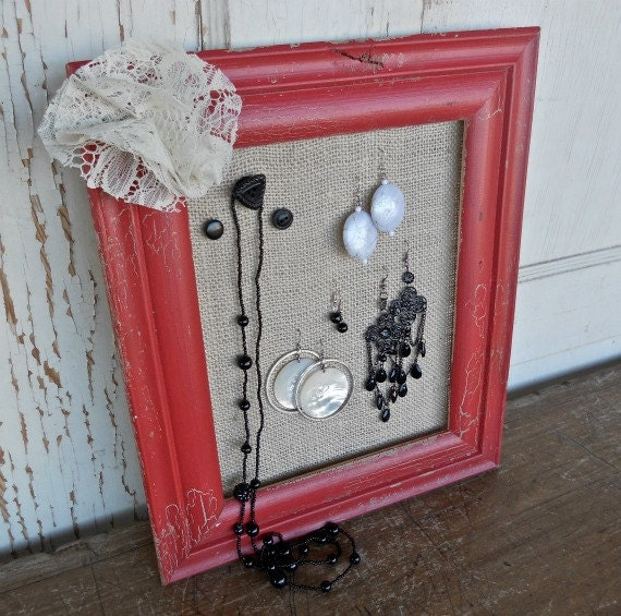 jewelry Organizer Display, Earring and Necklace Holder