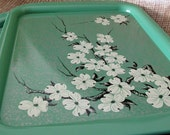 vintage chinoiserie Cherry Blossom serving trays