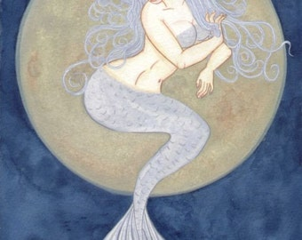 Moon Mermaid original art