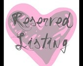 Reserved Listing for Beverly Cordone
