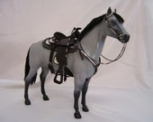 Altered Breyer model with western show tack