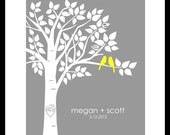 Tree Wedding Guest Book, Wedding Guestbook Tree, Guest Book Sign, Guest Book Alternative, Tree Wedding, Yellow and Grey Wedding Decor