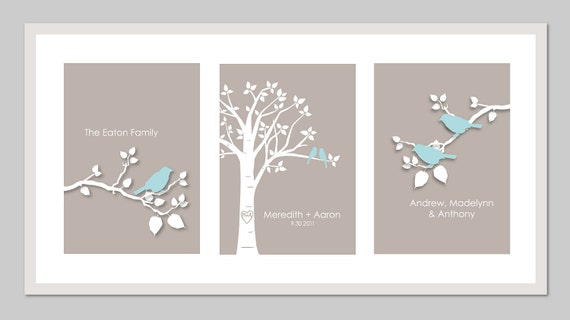 Family Tree Wall Art Personalized Family Tree Sign Last Name
