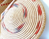 Tribal Straw Woven Circular Purse