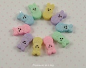 Polymer Clay Easter Bunny Beads