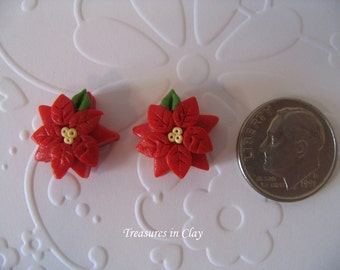 Polymer Clay Poinsettia Beads