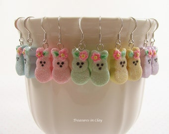 Polymer Clay Easter Bunny Earrings