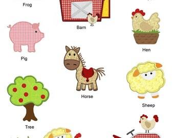 On The Farm Machine APPLIQUE Embroidery Designs