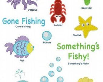 Cute Ocean Animals Machine Embroidery Designs