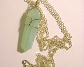 Mint Crystal Quartz Point Pendant