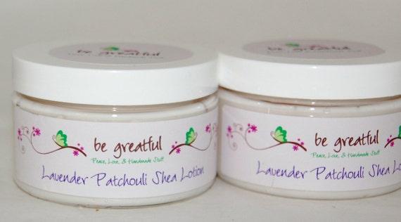 Handmade Lavender Patchouli Shea Lotion