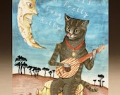 That's a Pretty Song Kitty mechanical card by Woodlucker