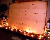 Rustic WEDDING guest book sign, Woodland Wedding Sign-Wood burned Love Birds personalized bride & groom