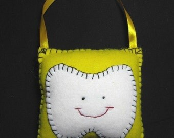 Bright Yellow Tooth Fairy Pillow