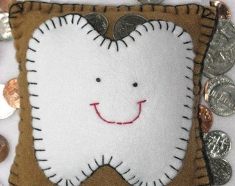 Tooth Fairy Pillow - Cocoa Brown