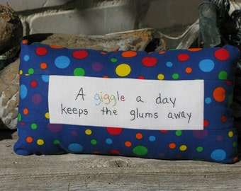 A Giggle a Day Tuck Pillow