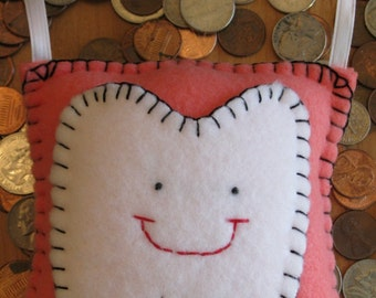 Tooth Fairy Pillow - Coral