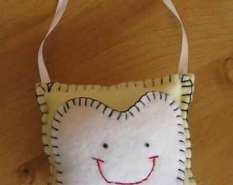 Soft Yellow Tooth Pillow