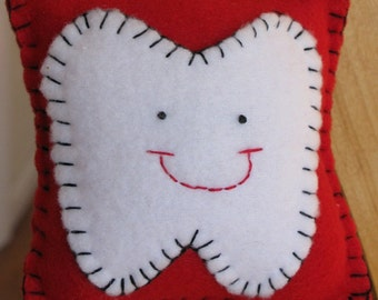 Red Fleece Tooth Fairy Pillow