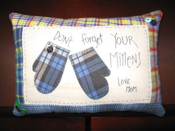 Don't Forget Your Mittens Tuck Pillow
