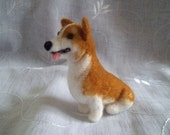 Corgi needle felted dog