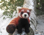 Firefox needle felted red panda