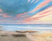 """Sea sunset, original oil by Andrey Stas 24x36"""" or 62x92 cm"""