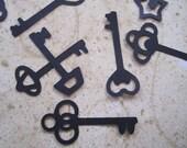 Keys, Skeleton Key Table Sprinkles, Die Cut Scrapbook Steampunk Confetti Card Making, Color Options