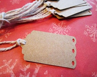 Scallop Edge Hang Tag Gift Tag Kraft Tag Wedding Holiday Party Decorative Cut Out Label Tag TeamScrapbookNinjas