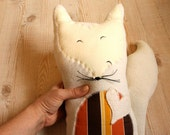 Wilbur the Fox. Woodland Plush Toy / Pillow. All Organic. Ready To Ship or Custom Colours Available.