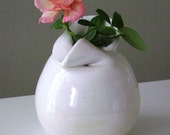 White Folded Bud Vase