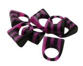 Black and Pink Striped Ring Bases