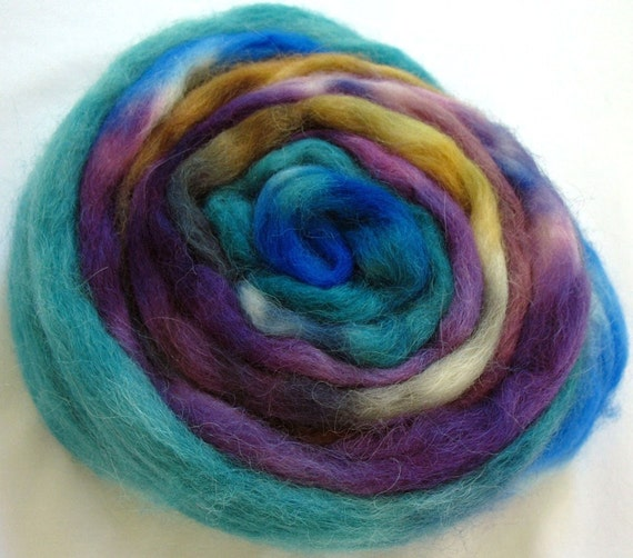 Superfine Alpaca Roving Hand Dyed