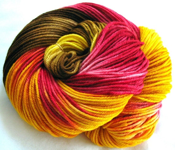 Super wash Merino Yarn Hand Dyed (HKO17)