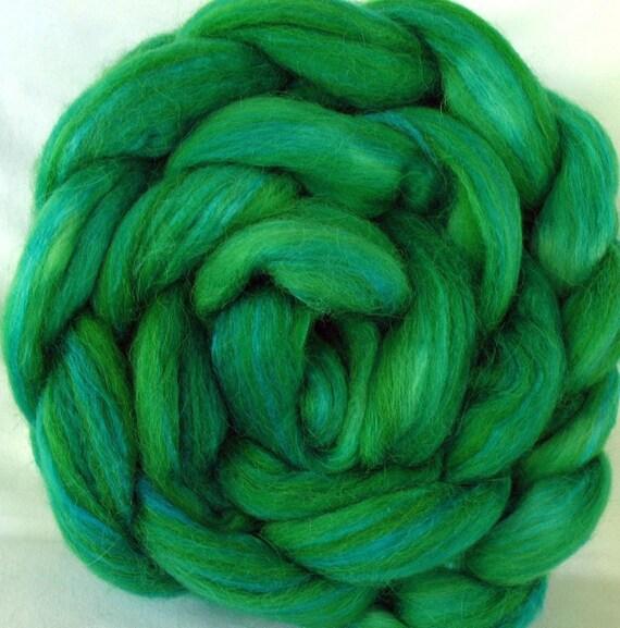 Alpaca, Silk, Merino Roving (Top) Hand Dyed (AAMS629)