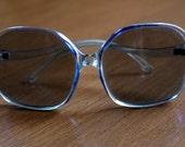"Vintage 60's ""Robin's Egg"" Blue Sunglasses"