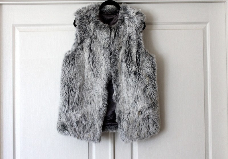 The great thing about a fur vest is you can literally throw it on over sweatpants and suddenly be transformed into a glamorous, vaguely intimidating version of yourself. Make it a faux-fur vest.