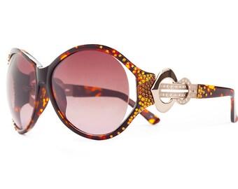 Volcano Goddess Oversized Sunglasses Encrusted WIth Swarovski Crystals
