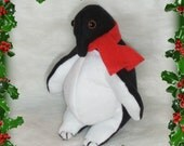 Christmas Penquin Stuffed Penguin Christmas decorations