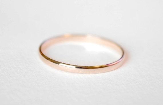 Thin 14kt Pink Gold Band