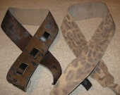 Leather Guitar Strap, spotted Classic series