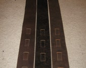 Leather guitar strap, brown  Modern series collection