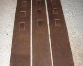 Leather guitar strap, brown collection