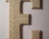 Choice of any 4 Wooden Wall Letters - Mix and Match any Styles - Comes with Ribbon or Velcro