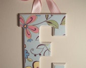 RESERVED for NERM S Any 6 Wooden Wall Letters - Comes with Your Choice of Ribbon or Velcro