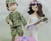 Uniform wedding cake topper gift decoration - military theme