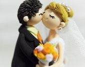 Kissing couple custom wedding cake topper gift Decoration - Kissing couple